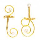 mayorista Colgantes: Botones con motivos 2 perlas, oro, caja con 24 pie